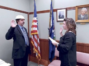 Christopher-Schaeffer takes oath of office