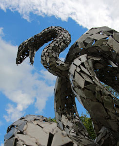 serpent sculpture from the Roe Valley